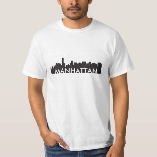 manhattan new york skyline silhouette america city T-Shirt