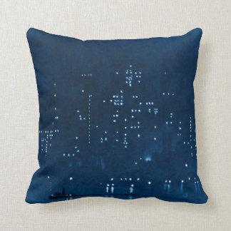 Manhattan Night Lights 1921 Throw Cushions