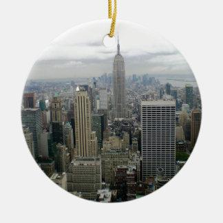 Manhattan, NYC Ceramic Ornament