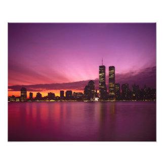 Manhattan Skyline and Hudson River, New York, 2 Photo Print
