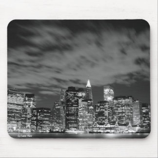 Manhattan skyline at Night Lights, NYC Mouse Pad