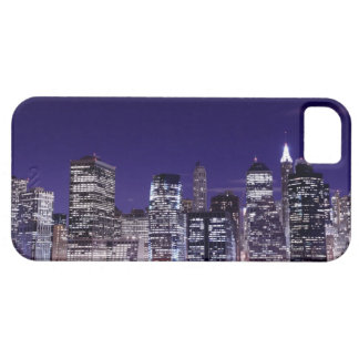 Manhattan Skyline At Night, New York City iPhone 5 Covers