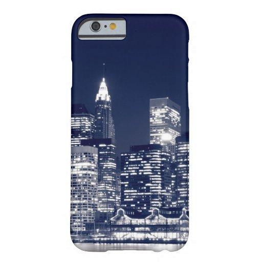 Manhattan Skyline At Night, New York City iPhone 6 Case