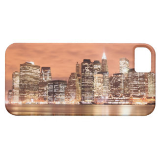 Manhattan Skyline At Night, New York City iPhone 5 Case