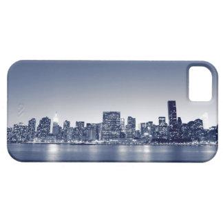 Manhattan Skyline At Night, New York City iPhone 5 Cases