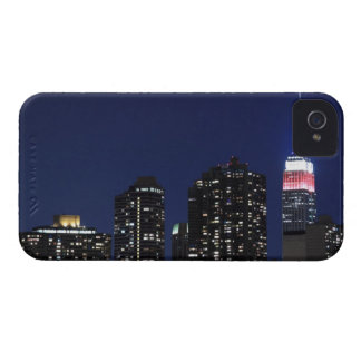 Manhattan Skyline At Night, New York City iPhone 4 Case-Mate Case