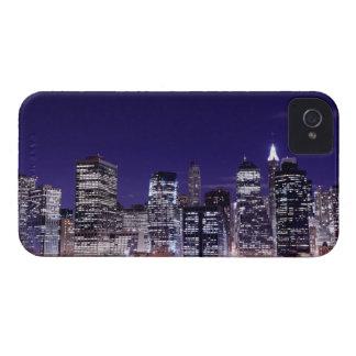 Manhattan Skyline At Night, New York City iPhone 4 Covers