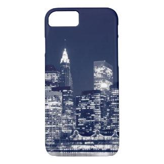 Manhattan Skyline At Night, New York City iPhone 7 Case