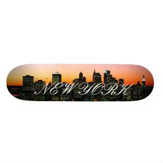 Manhattan Skyline at Twilight, New York picture... Skate Deck