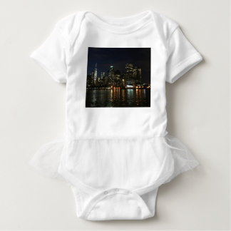 Manhattan Skyline Baby Bodysuit