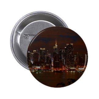 Manhattan Skyline Pinback Buttons