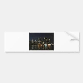 Manhattan Skyline Bumper Sticker