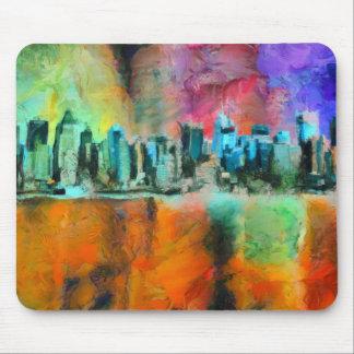 Manhattan skyline mouse pad