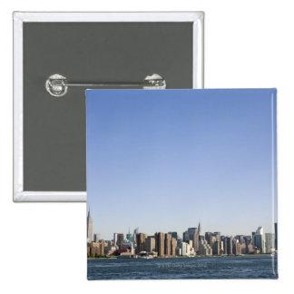 Manhattan Skyline, New York City, NY, USA 15 Cm Square Badge