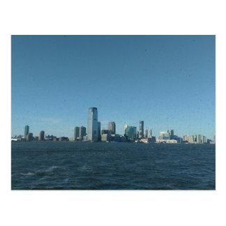 Manhattan Skyline, New York City, Vintage Postcard