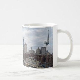 Manhattan skyline New York Coffee Mugs