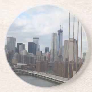 Manhattan skyline New York Sandstone Coaster