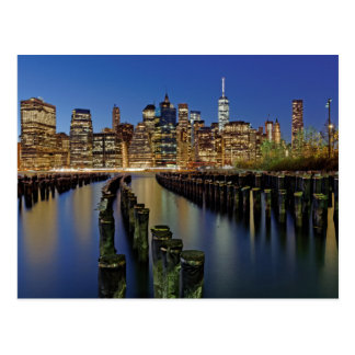 Manhattan skyline postcard