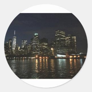 Manhattan Skyline Round Sticker