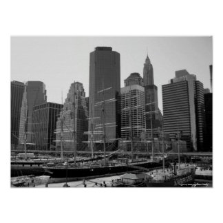 Manhattan, South Sea Port photography poster