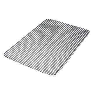 Manhattan-Spring-Gray-Striped-Contemporary-Large Bath Mat
