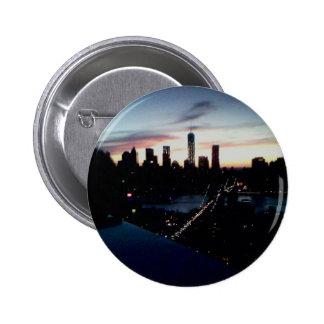 Manhattan Sunset 6 Cm Round Badge