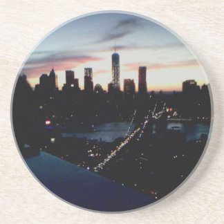 Manhattan Sunset Beverage Coaster