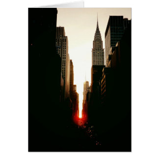 Manhattanhenge Sunset and the Chrysler Building Card