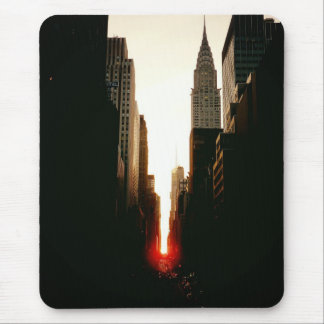 Manhattanhenge Sunset and the Chrysler Building Mouse Pad