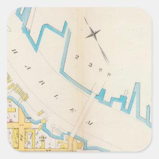 Manhatten, New York 4 Square Sticker