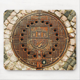 Manhole Cover 4 (Prague) Mouse Pad