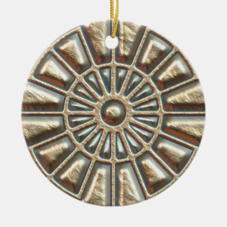Manhole Cover Double-Sided Ceramic Round Christmas Ornament