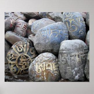 Mani Stones at Tibetan Monastery Poster