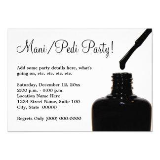 Manicure Pedicure Party 13 Cm X 18 Cm Invitation Card