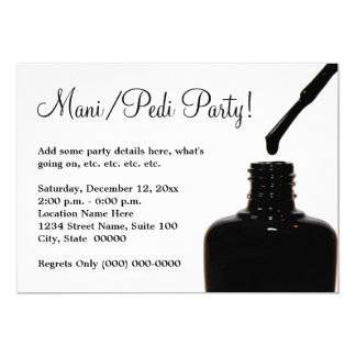 Manicure Pedicure Party Card