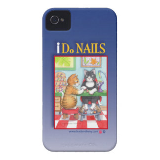 Manicure Salon Cats iPhone 4 Case (Bud and Tony)
