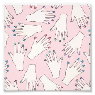 Manicured Hands Nail Studio Pink Pastel Pattern Photo