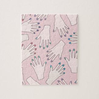 Manicured Hands Nail Studio Pink Pastel Pattern Puzzle