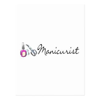 Manicurist 2 postcard