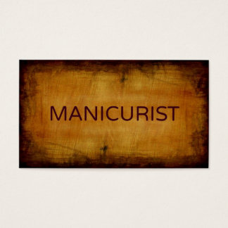 Manicurist Antique Brushed Business Card