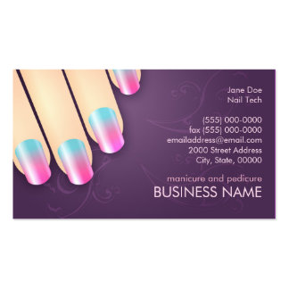 415 nail technician manicurist business cards and nail for Standard business card template