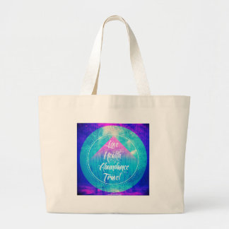 Manifesting Love Health Abundance Travel series Large Tote Bag
