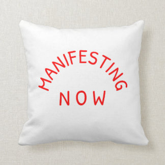 Manifesting Now Polyester Throw Pillow