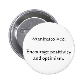 Manifesto #10 6 cm round badge