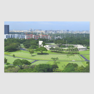 Manila American Cemetery and Memorial i Rectangular Sticker