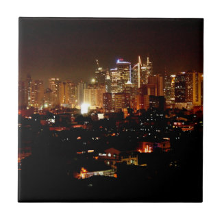 Manila at Night Tile