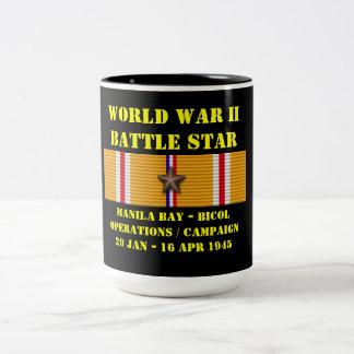 Manila Bay-Bicol Operations Campaign Two-Tone Coffee Mug