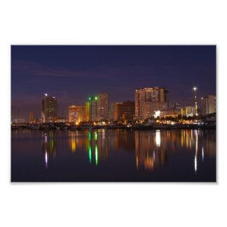 Manila bay nightscape photograph