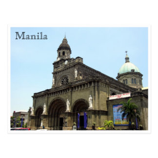 manila cathedral postcard