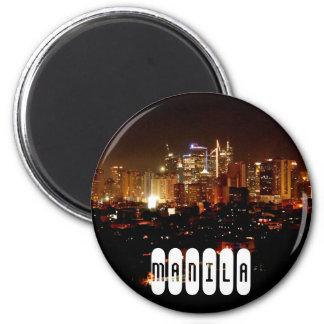 Manila in Philippines 6 Cm Round Magnet